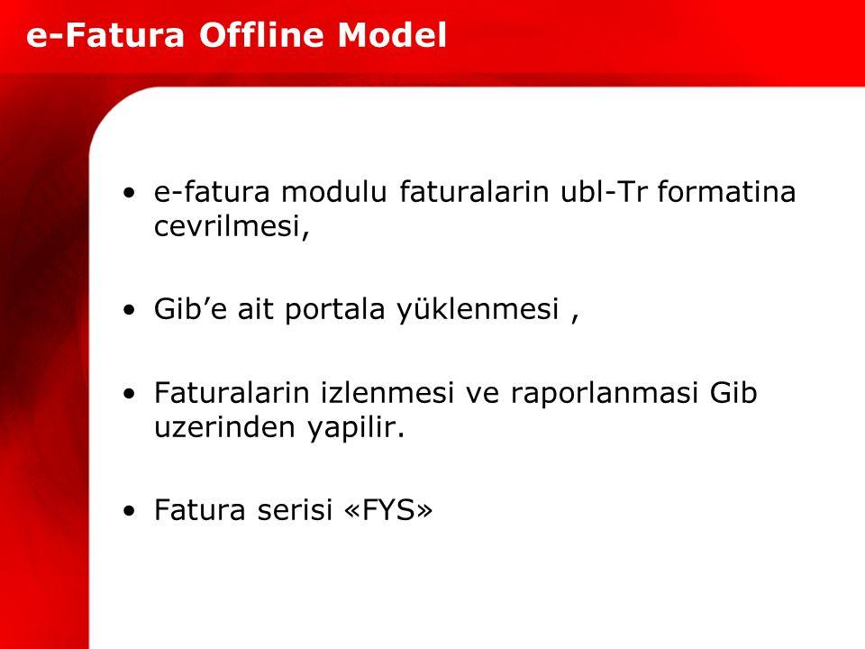 e-Fatura Offline Model