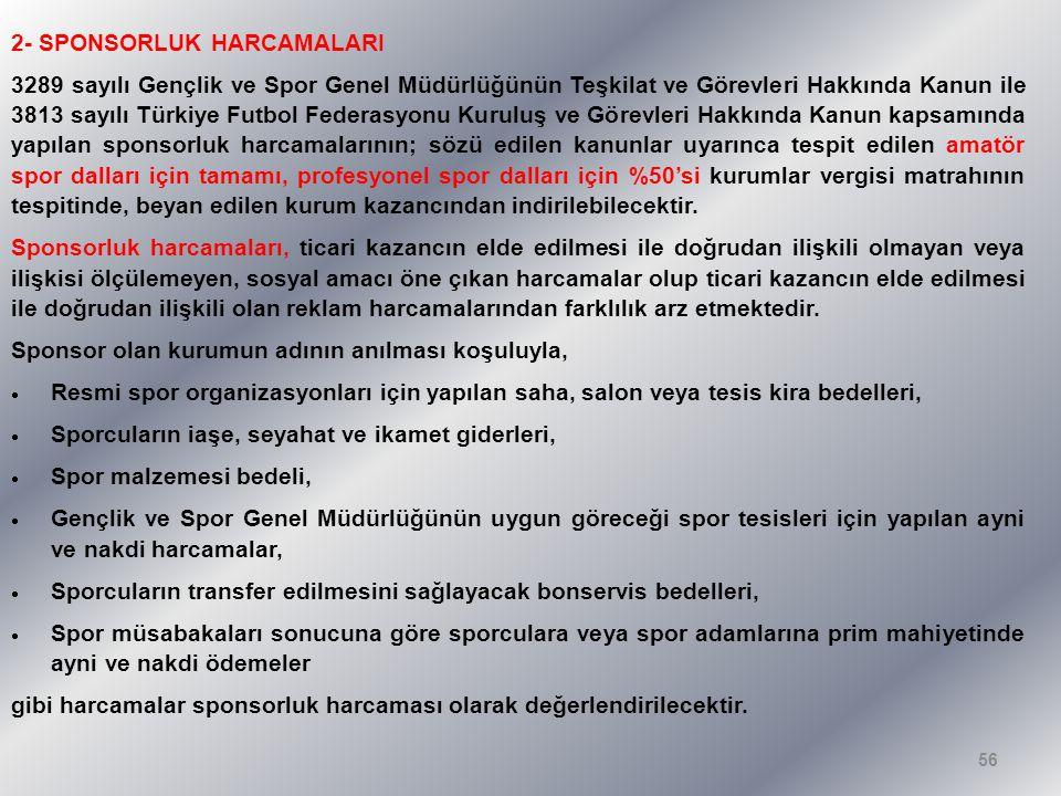 2- SPONSORLUK HARCAMALARI