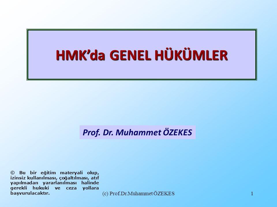Prof. Dr. Muhammet ÖZEKES