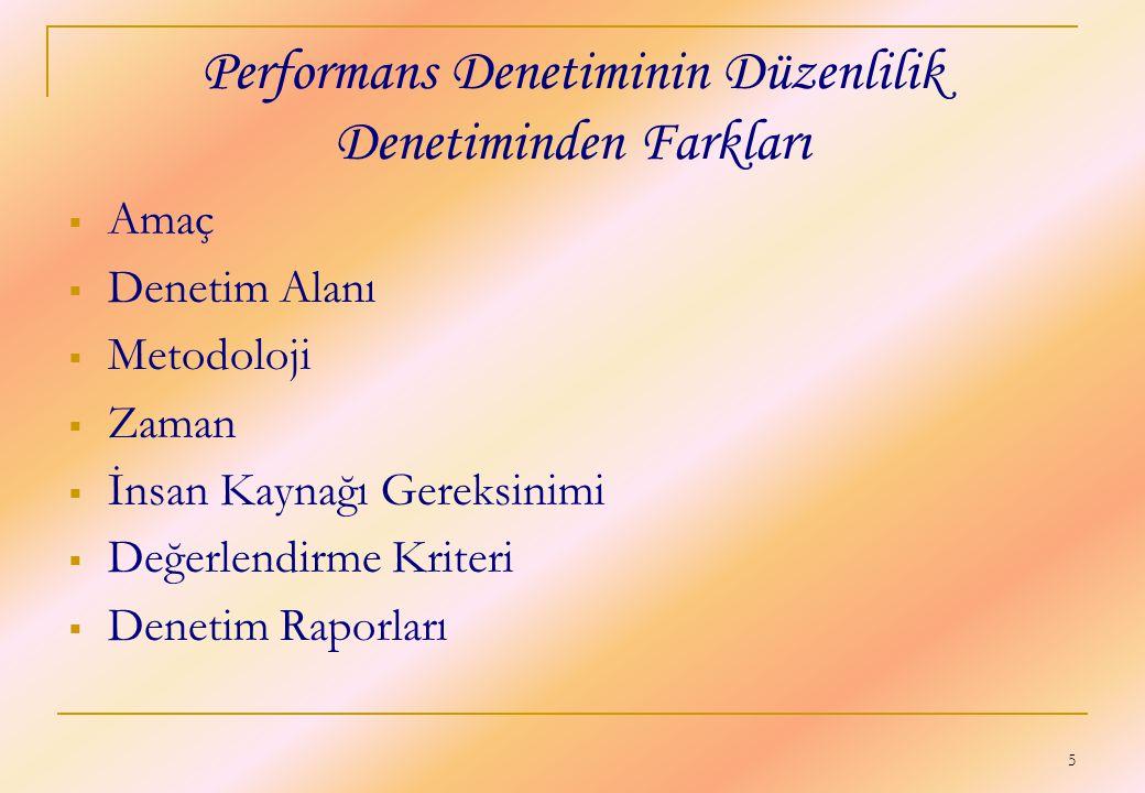 Performans Denetiminin Düzenlilik Denetiminden Farkları