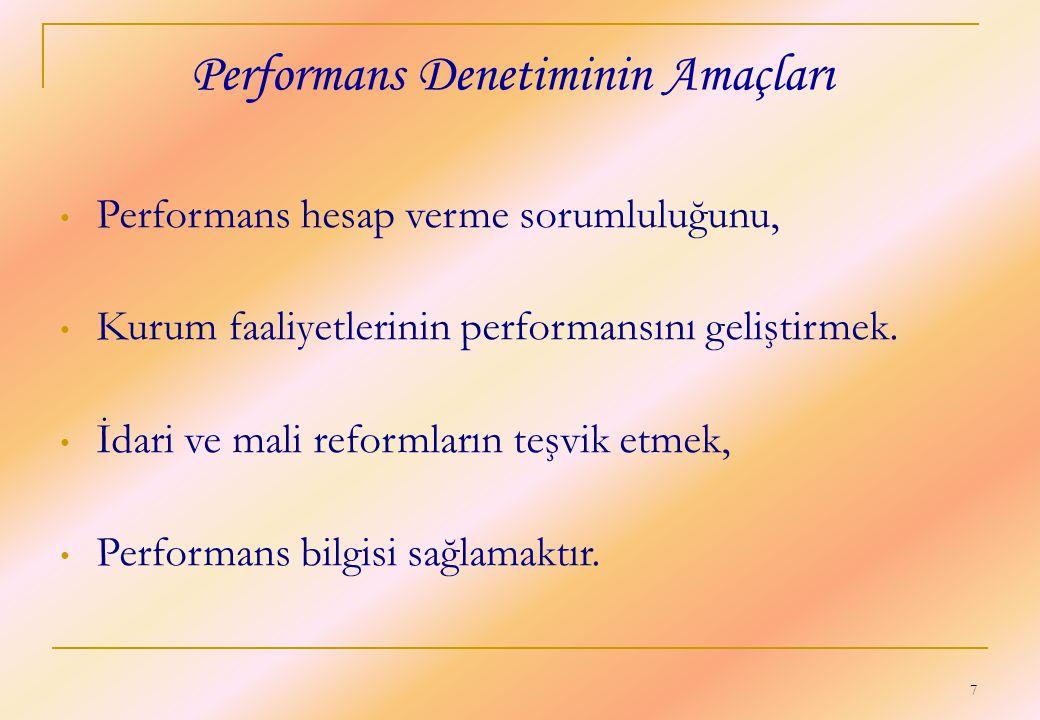Performans Denetiminin Amaçları