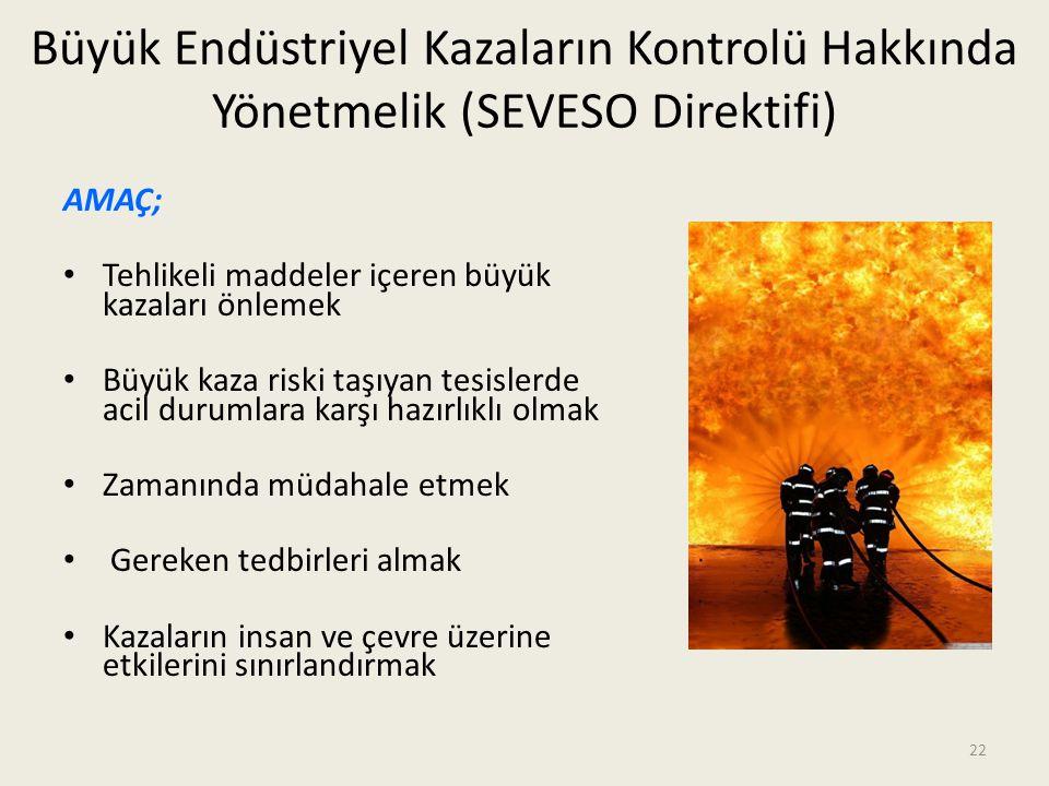 Büyük Endüstriyel Kazaların Kontrolü Hakkında Yönetmelik (SEVESO Direktifi)