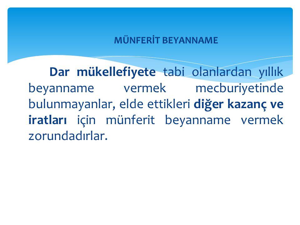 MÜNFERİT BEYANNAME