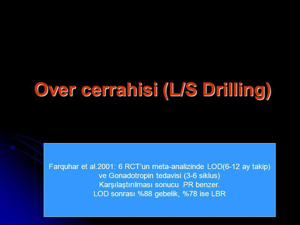 Over cerrahisi (L/S Drilling)