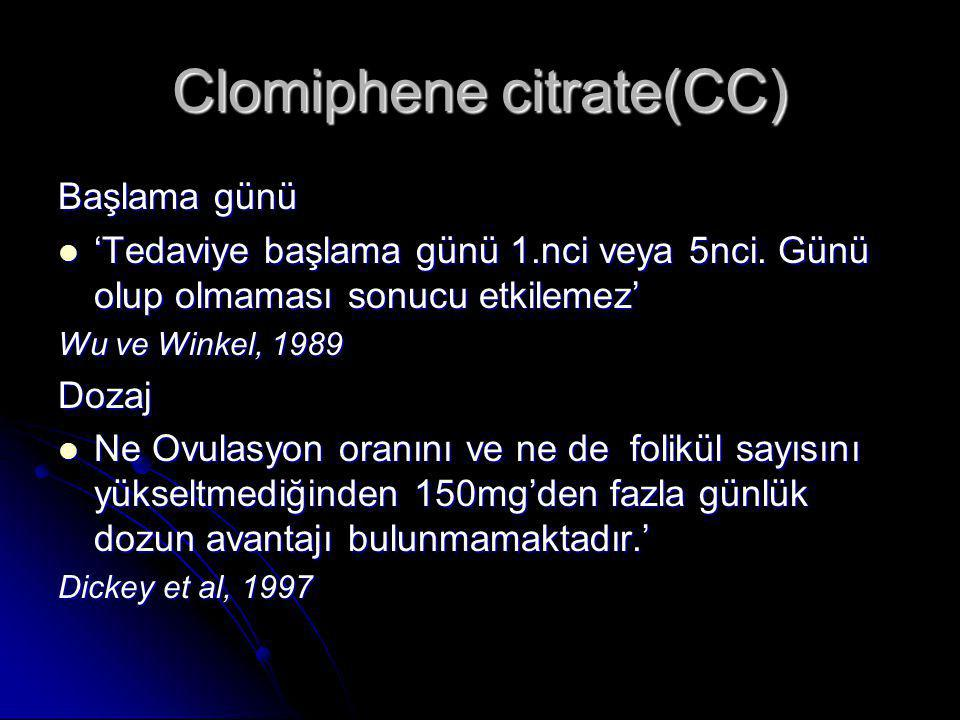 Clomiphene citrate(CC)