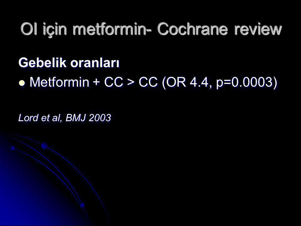 OI için metformin- Cochrane review