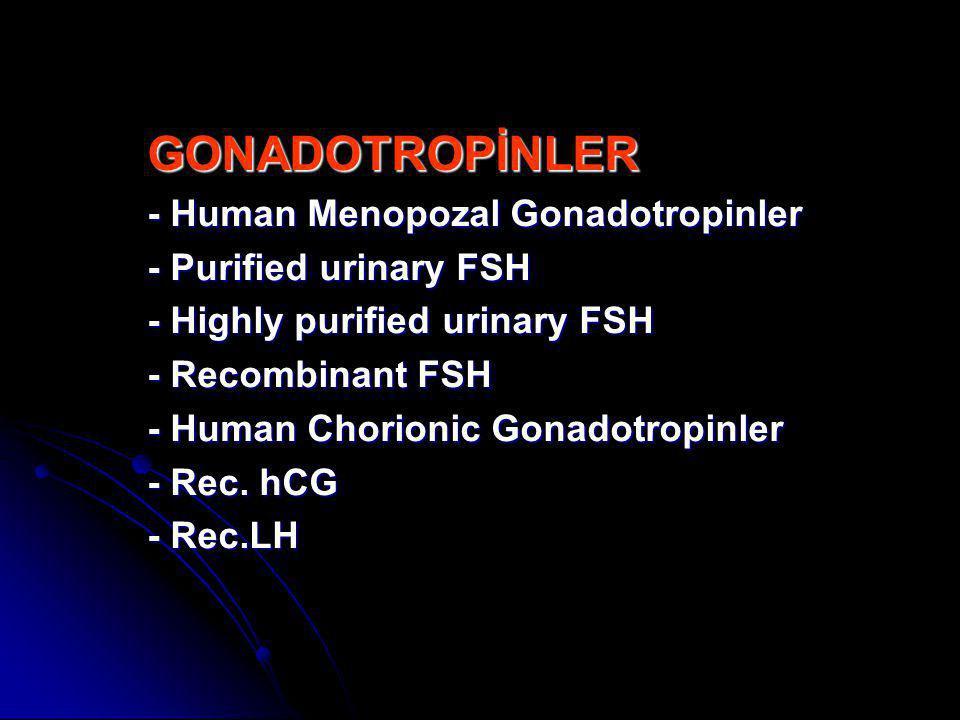 GONADOTROPİNLER - Human Menopozal Gonadotropinler