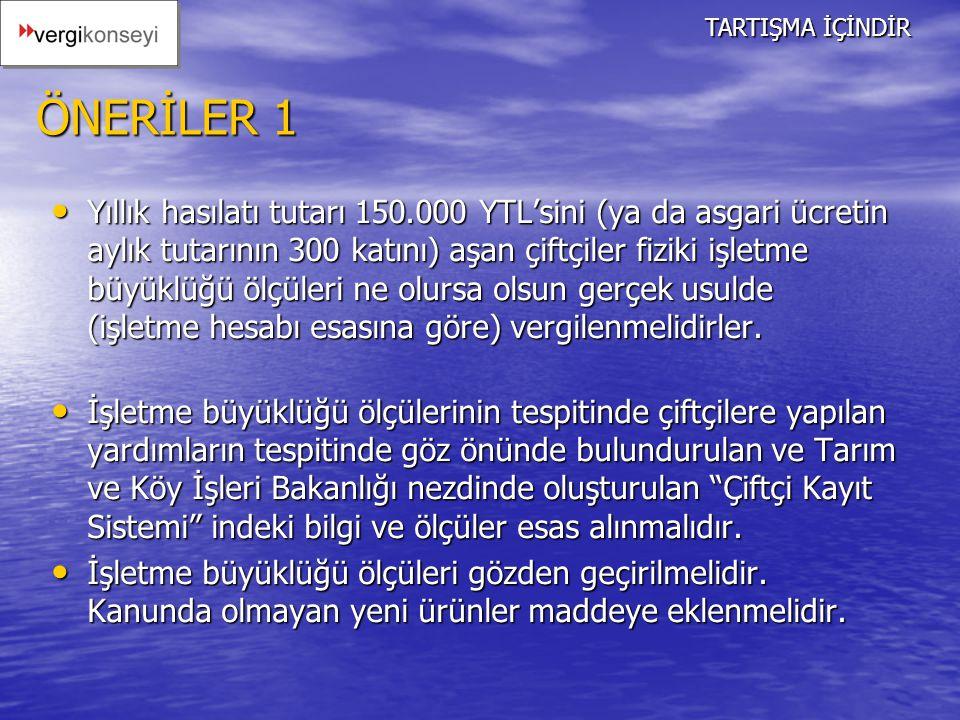 TARTIŞMA İÇİNDİR ÖNERİLER 1.
