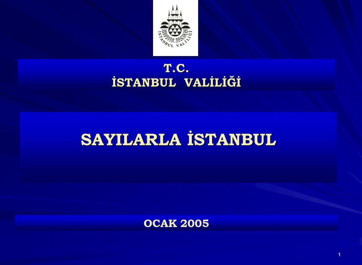 T.C. İSTANBUL VALİLİĞİ SAYILARLA İSTANBUL OCAK 2005
