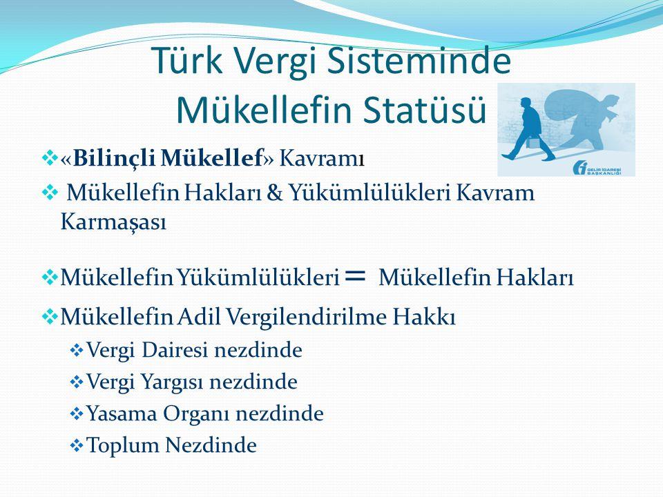 Türk Vergi Sisteminde Mükellefin Statüsü