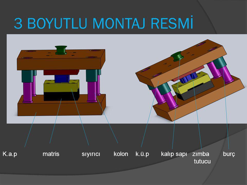 3 BOYUTLU MONTAJ RESMİ K.a.p matris sıyırıcı kolon