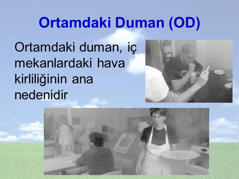 Ortamdaki Duman (OD) Ortamdaki duman, iç mekanlardaki hava kirliliğinin ana nedenidir