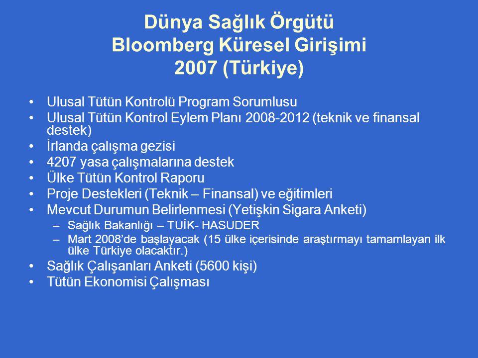 Dünya Sağlık Örgütü Bloomberg Küresel Girişimi 2007 (Türkiye)