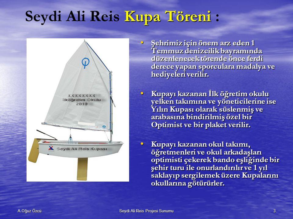 Seydi Ali Reis Kupa Töreni :