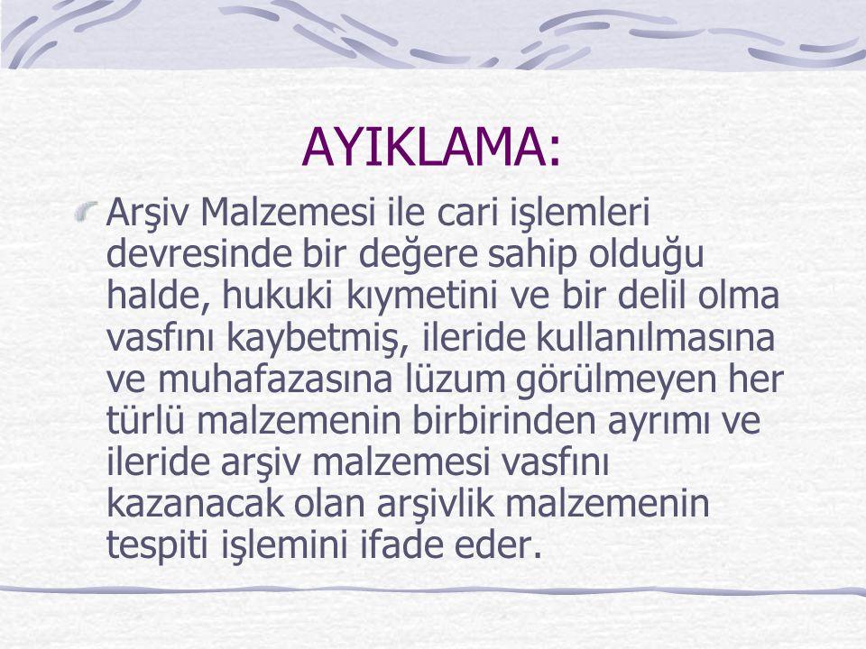 AYIKLAMA: