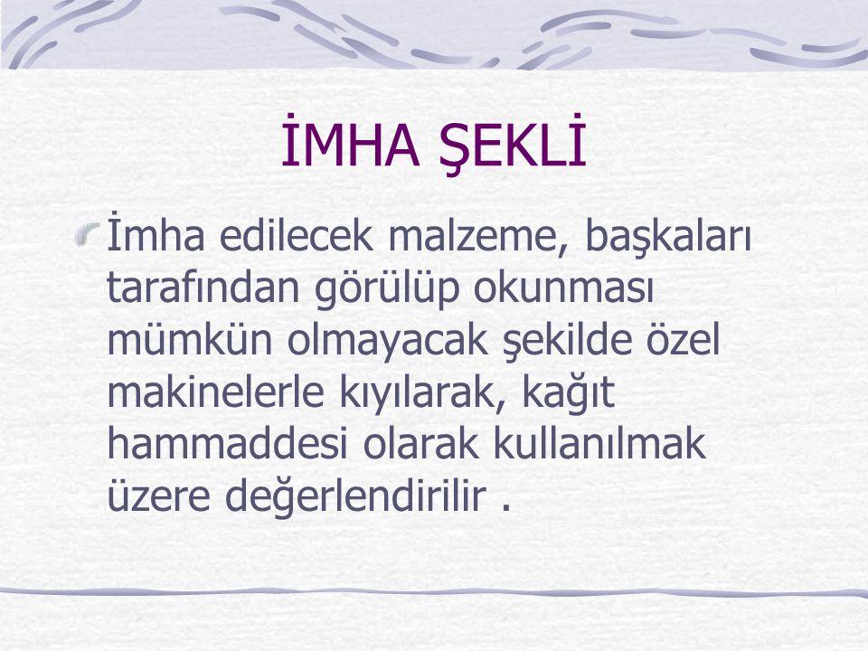 İMHA ŞEKLİ