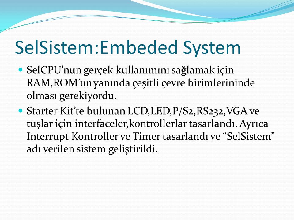 SelSistem:Embeded System