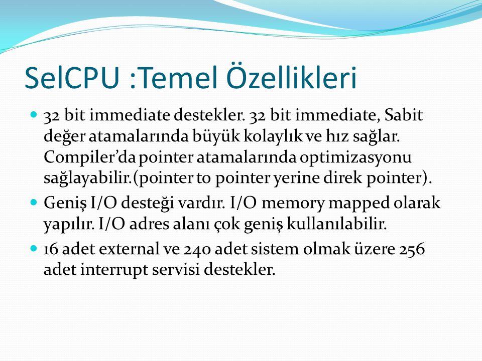 SelCPU :Temel Özellikleri
