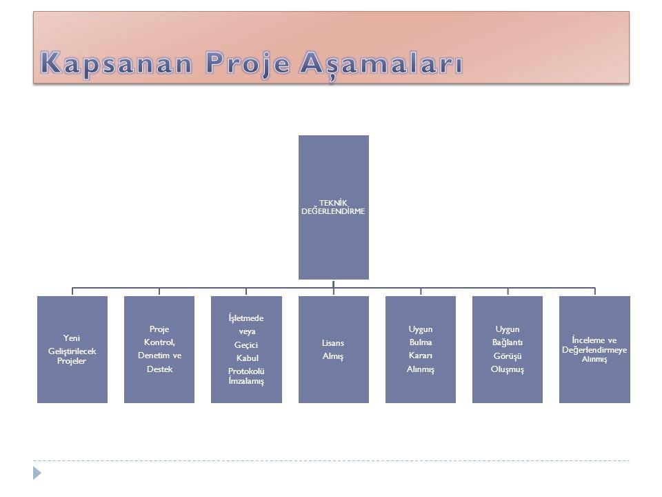Kapsanan Proje Aşamaları