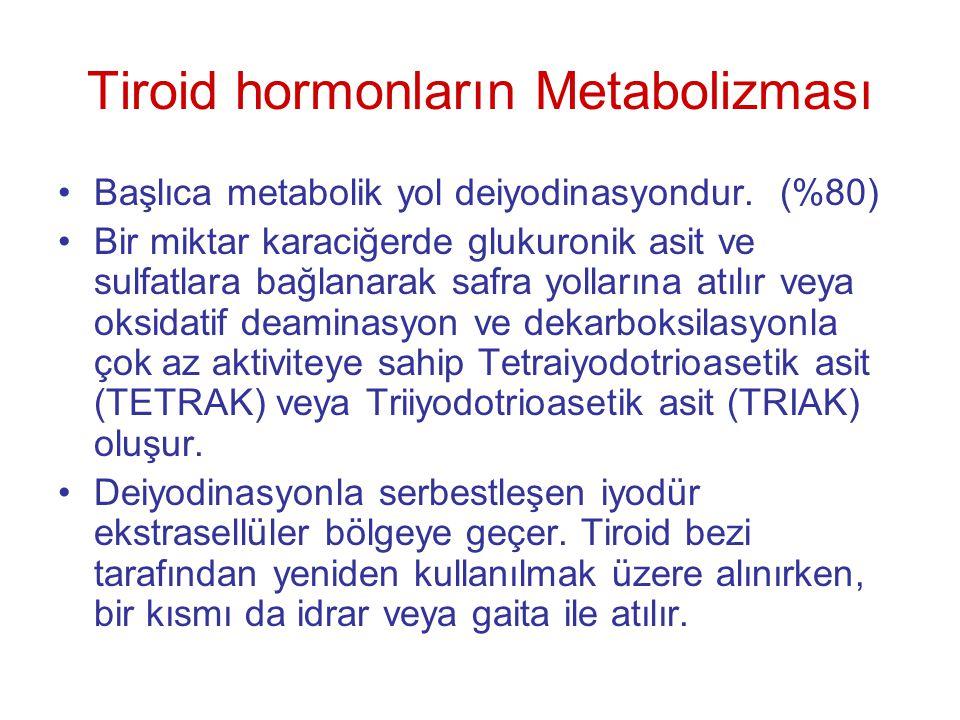 Tiroid hormonların Metabolizması