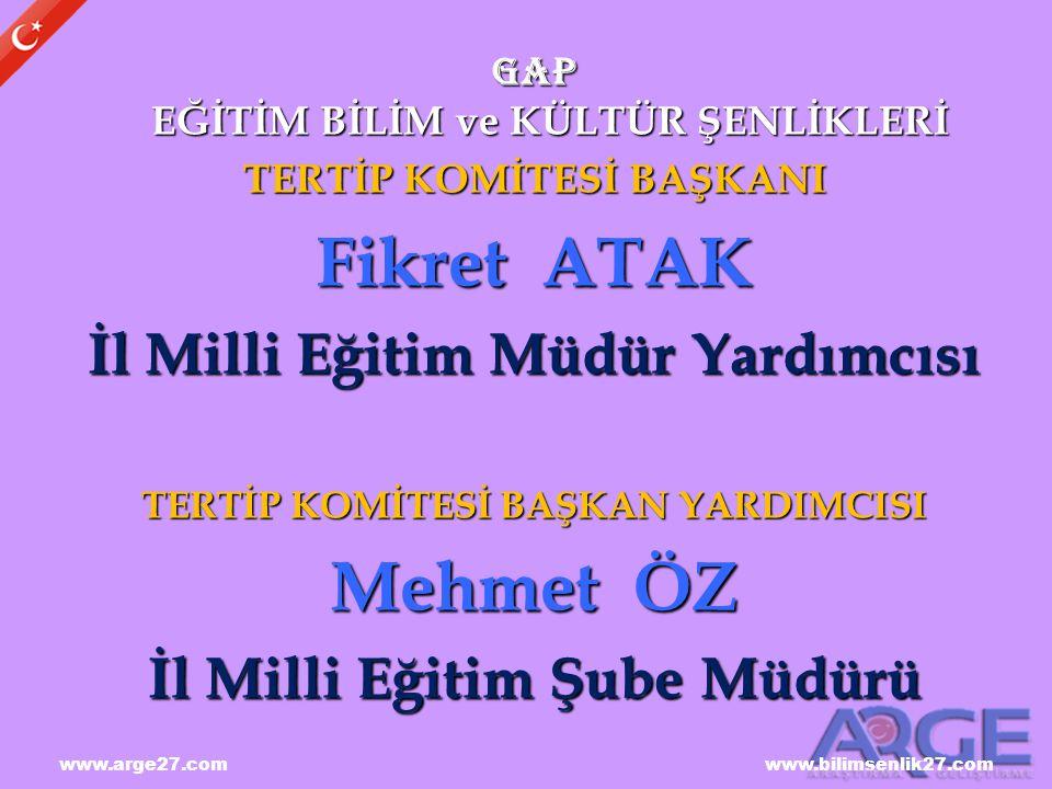 Fikret ATAK Mehmet ÖZ İl Milli Eğitim Müdür Yardımcısı