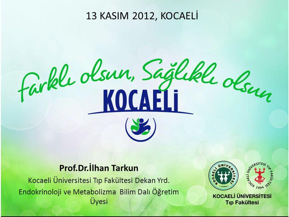 13 KASIM 2012, KOCAELİ Prof.Dr.İlhan Tarkun