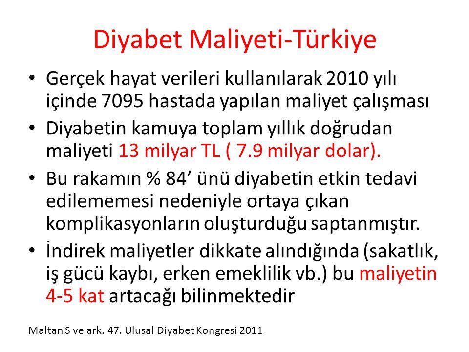 Diyabet Maliyeti-Türkiye