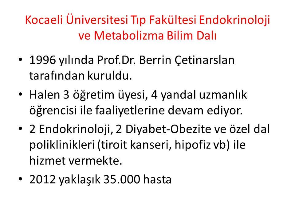 Kocaeli Üniversitesi Tıp Fakültesi Endokrinoloji ve Metabolizma Bilim Dalı