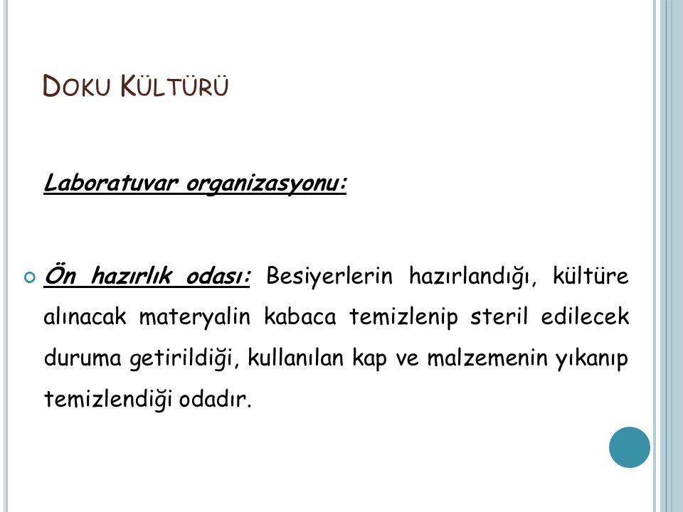 Doku Kültürü Laboratuvar organizasyonu: