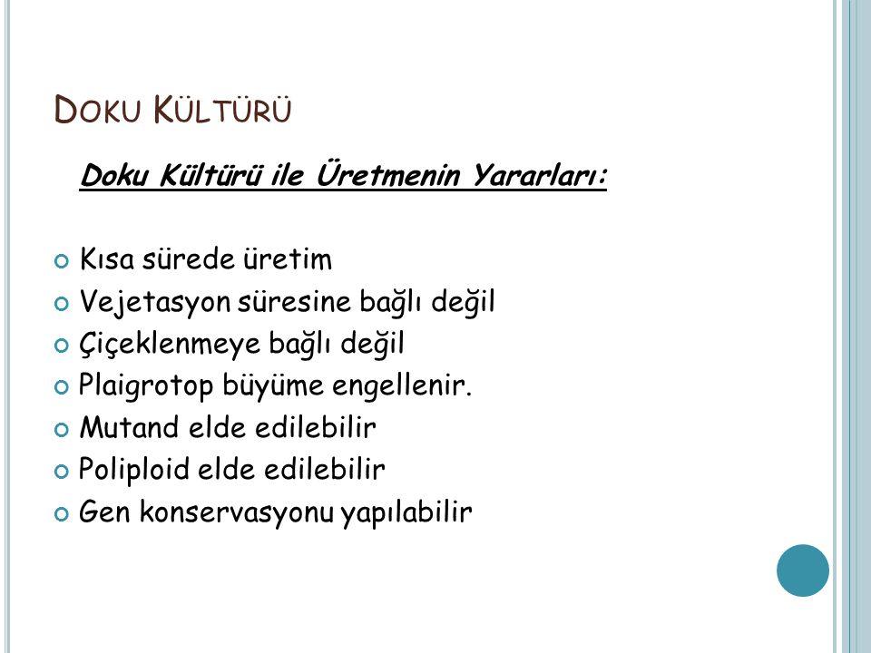 Doku Kültürü Doku Kültürü ile Üretmenin Yararları: Kısa sürede üretim