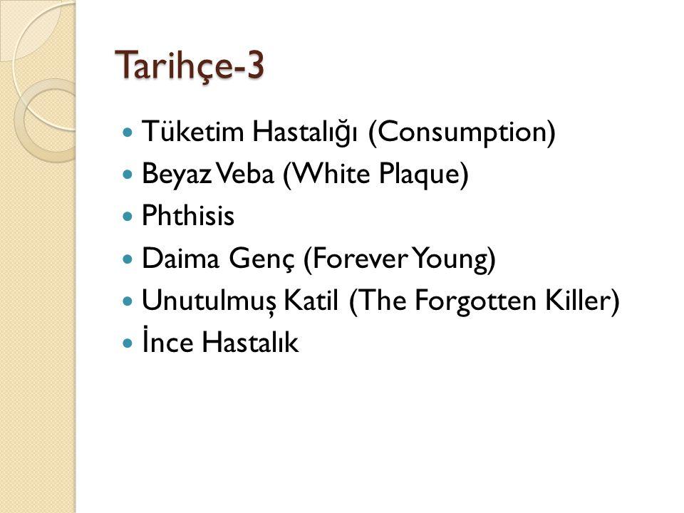 Tarihçe-3 Tüketim Hastalığı (Consumption) Beyaz Veba (White Plaque)