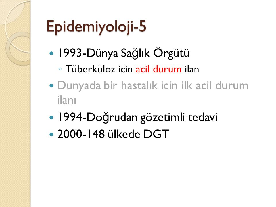 Epidemiyoloji-5 1993-Dünya Sağlık Örgütü