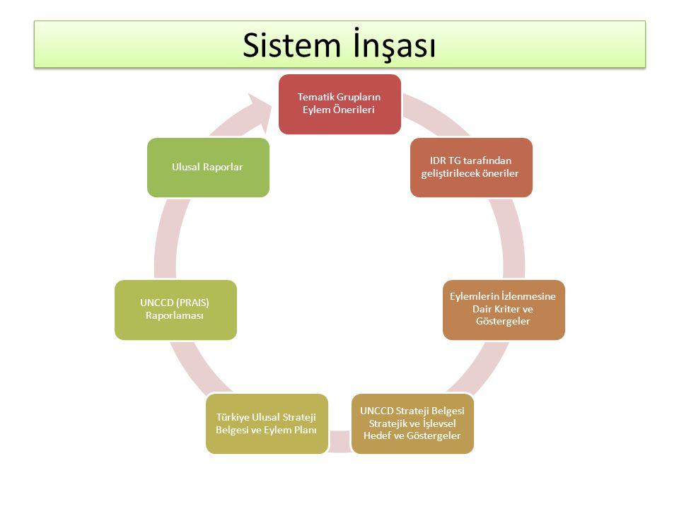 Sistem İnşası Tematik Grupların Eylem Önerileri