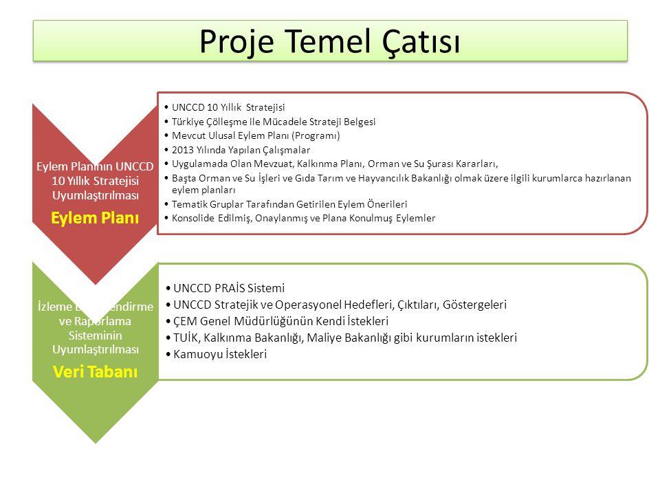 Proje Temel Çatısı Eylem Planı Veri Tabanı