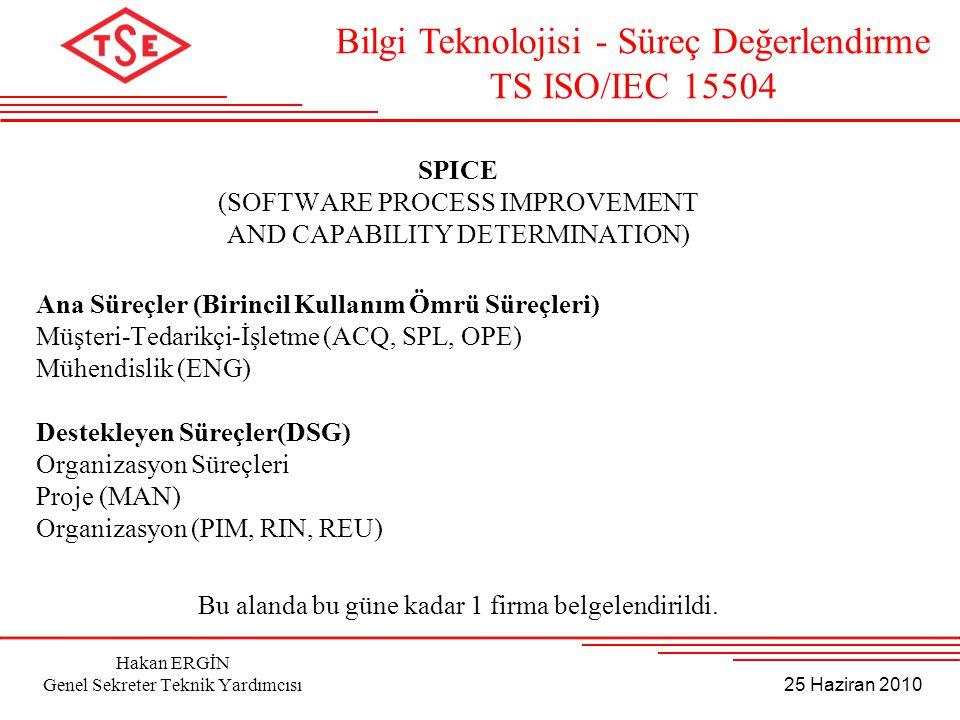 Bilgi Teknolojisi - Süreç Değerlendirme TS ISO/IEC 15504