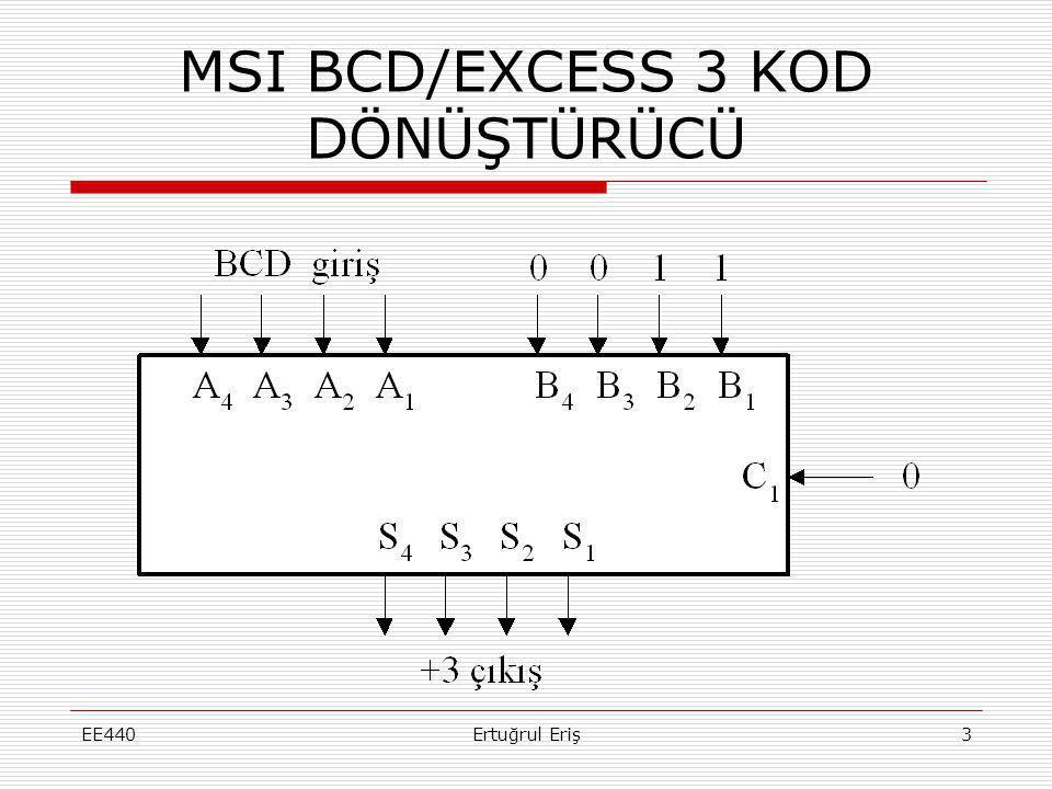 MSI BCD/EXCESS 3 KOD DÖNÜŞTÜRÜCÜ