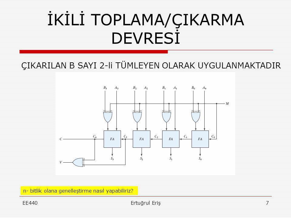 İKİLİ TOPLAMA/ÇIKARMA DEVRESİ