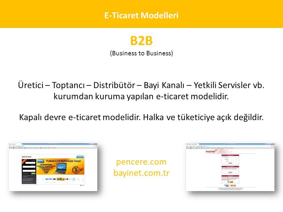 B2B E-Ticaret Modelleri