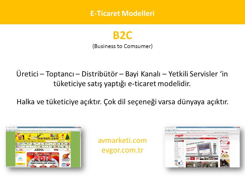 B2C E-Ticaret Modelleri