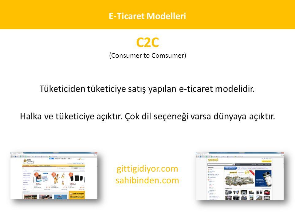 C2C E-Ticaret Modelleri