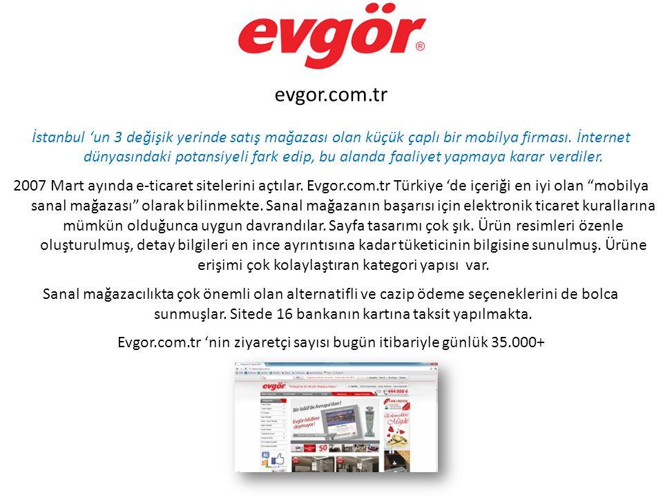 Evgor.com.tr 'nin ziyaretçi sayısı bugün itibariyle günlük 35.000+