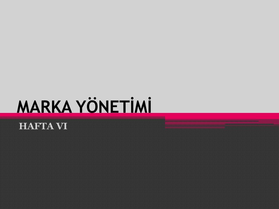 MARKA YÖNETİMİ HAFTA VI