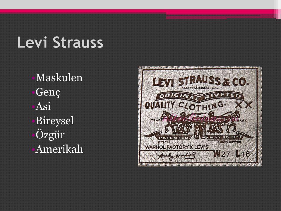 Levi Strauss Maskulen Genç Asi Bireysel Özgür Amerikalı