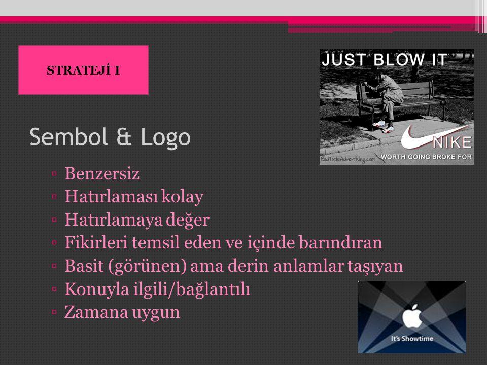 Sembol & Logo Benzersiz Hatırlaması kolay Hatırlamaya değer
