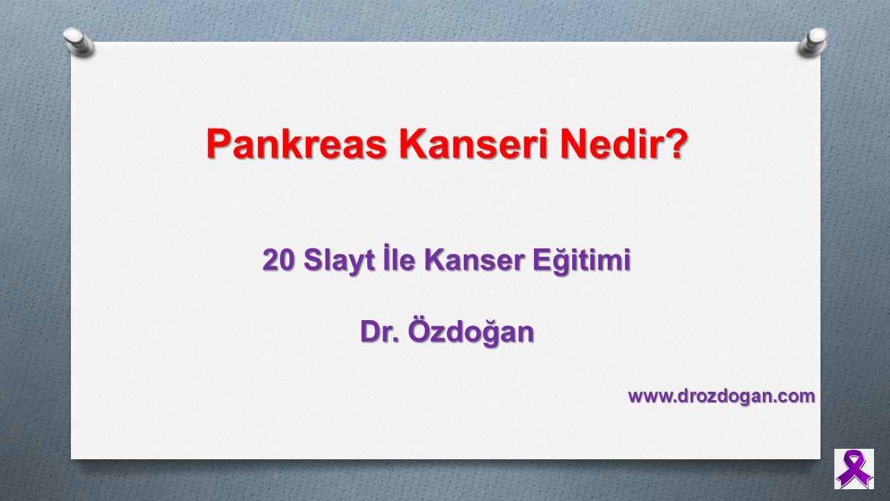 Pankreas Kanseri Nedir 20 Slayt İle Kanser Eğitimi