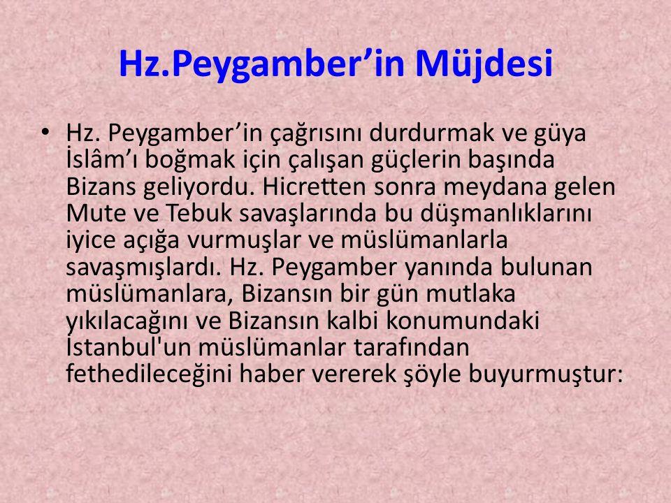 Hz.Peygamber'in Müjdesi