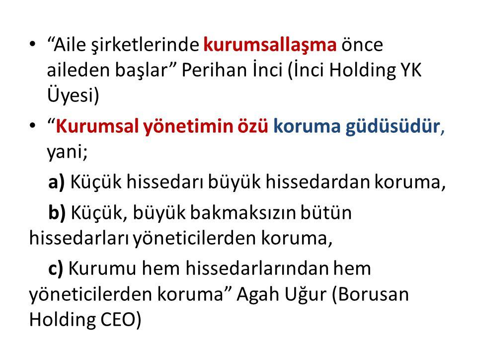 Aile şirketlerinde kurumsallaşma önce aileden başlar Perihan İnci (İnci Holding YK Üyesi)