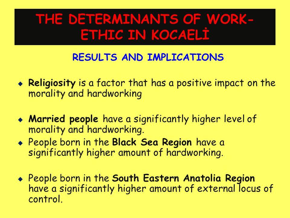 THE DETERMINANTS OF WORK-ETHIC IN KOCAELİ