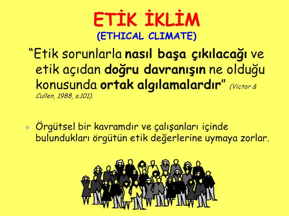 ETİK İKLİM (ETHICAL CLIMATE)
