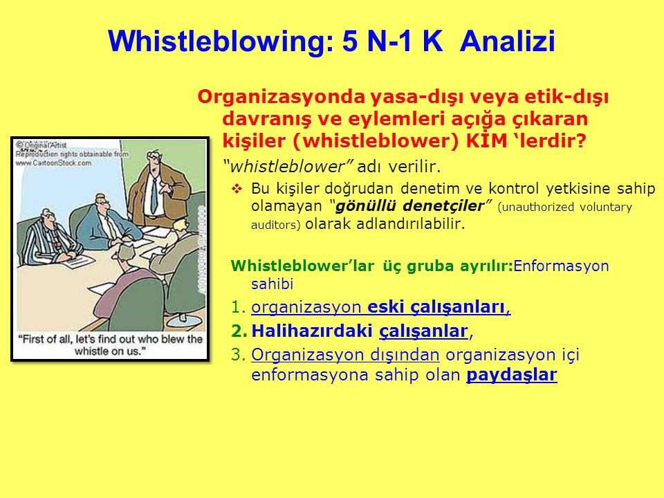 Whistleblowing: 5 N-1 K Analizi